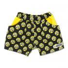 【MOON EYES】MOONEYES Infant Short Pants 經典滿版logo 兒童短褲 黃色| Webike摩托百貨