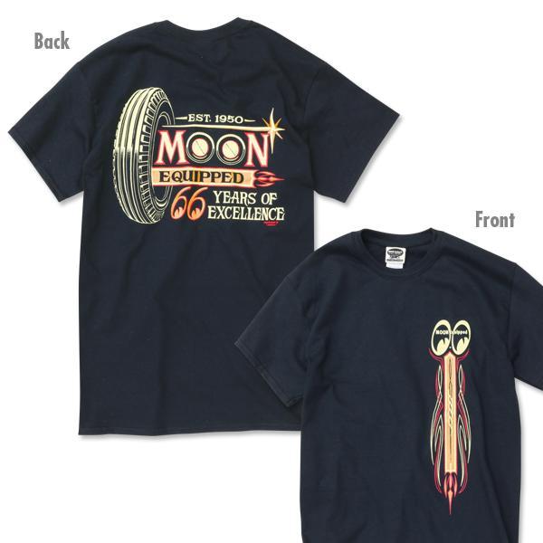 【MOON EYES】MOONEYES Equipped 66years T-shirt 66周年紀念短袖T桖  Webike摩托百貨