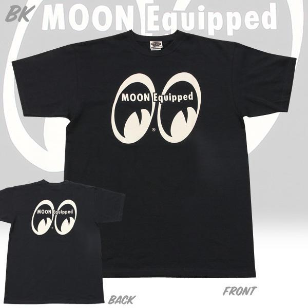 【MOON EYES】MOON Equipped 經典LOGO 短袖上衣 黑色| Webike摩托百貨