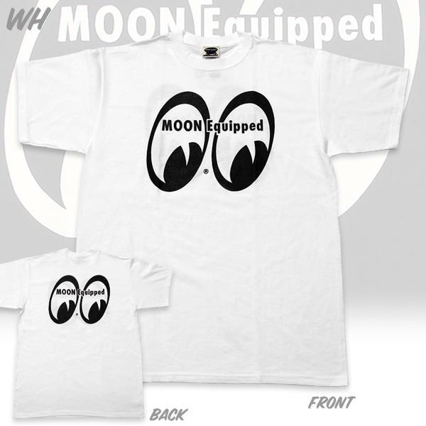 【MOON EYES】MOON Equipped 經典LOGO 短袖上衣 白色  Webike摩托百貨