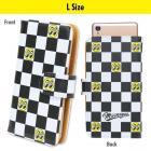 【MOON EYES】MOONEYES Smartphone iPhone6 Plus 皮革方格旗手機保護套L size| Webike摩托百貨