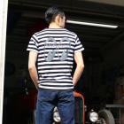 【MOON EYES】MOONEYES Equipped Border T-Shirt LOGO打印 橫條短袖T桖| Webike摩托百貨