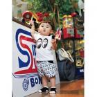 【MOON EYES】MOONEYES Infant Short Pants 兒童滿版logo運動短褲| Webike摩托百貨