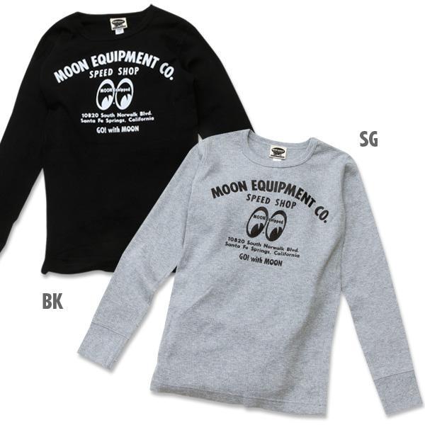 【MOON EYES】MOONEYESSpeed Shop Long Sleeve T-Shirt長袖文字打印 T桖 黑色  Webike摩托百貨