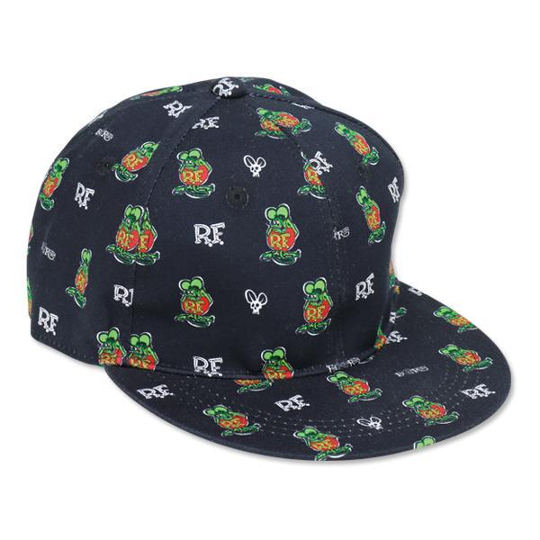 【MOON EYES】Rat Fink Monogram Cap RF 滿版老鼠芬克 棒球帽  Webike摩托百貨