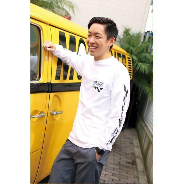 【MOON EYES】Genuine MOON Checker Long Sleeve T-shirt 賽車旗長袖上衣 黑色| Webike摩托百貨