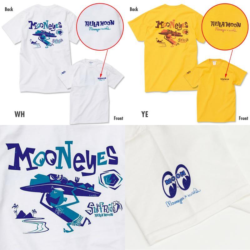 【MOON EYES】MOONEYES x Mookie 南洋風 夏威夷風格 短袖T桖 白色  Webike摩托百貨