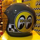 【MOON EYES】台灣限定MOONEYES 4/3安全帽 水泥灰| Webike摩托百貨
