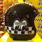 【MOON EYES】台灣限定MOONEYES 4/3安全帽 亮黑色| Webike摩托百貨