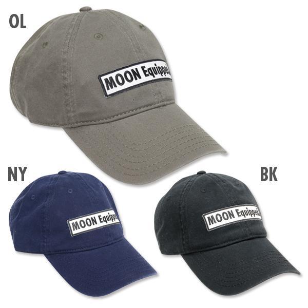 【MOON EYES】MOONEYES Equipped Square Logo Twill Cap 布章 復古鴨舌老帽  Webike摩托百貨