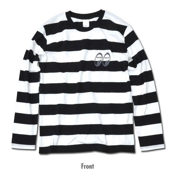 【MOON EYES】MOONEYES Border Long Sleeve T-Shirt 黑白橫條LOGO打印| Webike摩托百貨