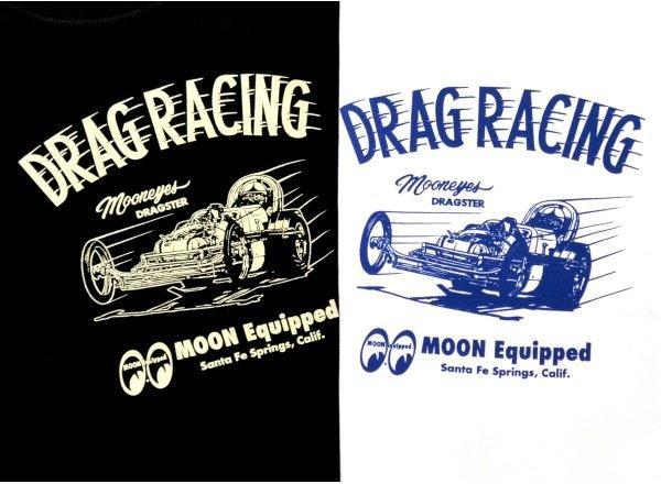 【MOON EYES】MOONEYES Dragster T Shirt 高速賽車打印T桖 白色  Webike摩托百貨