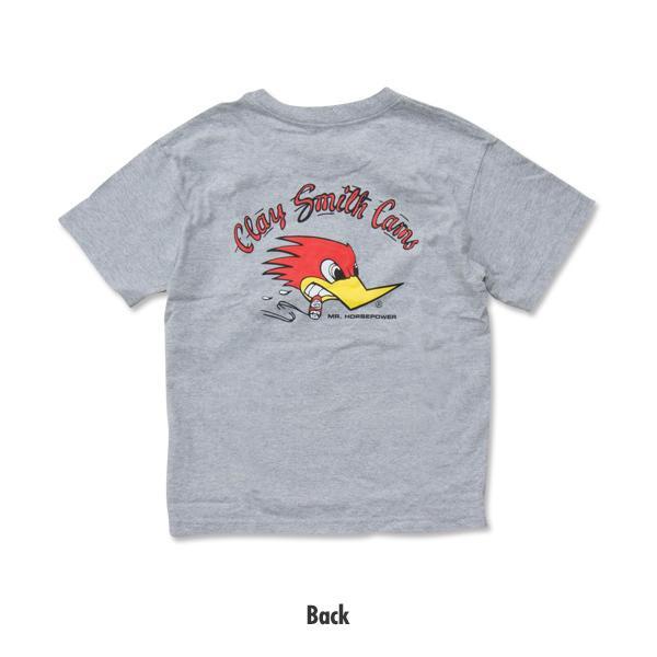 【MOON EYES】CLAY SMITH 經典 叼菸鷹 嬰孩童短袖上衣 灰色| Webike摩托百貨