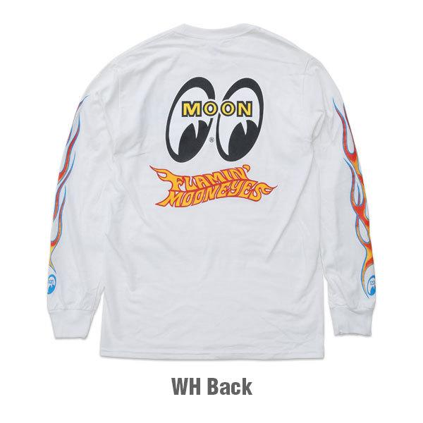 【MOON EYES】Flamin' MOONEYES Long Sleeve T-Shirt 火焰風格長袖上衣 黑色  Webike摩托百貨