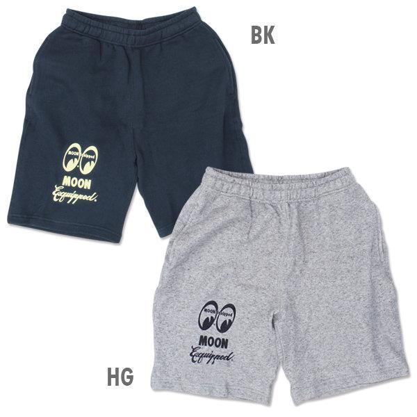 【MOON EYES】MOONEYES MOON Equipped Logo Half Pants 棉褲 灰色  Webike摩托百貨