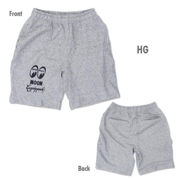 【MOON EYES】MOONEYES MOON Equipped Logo Half Pants 棉褲 黑色  Webike摩托百貨