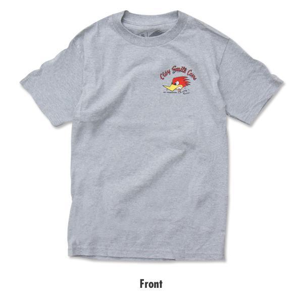 【MOON EYES】CLAY SMITH 經典 叼菸鷹 短袖上衣 短T 灰色  Webike摩托百貨