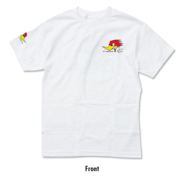 【MOON EYES】CLAY SMITH 經典 叼菸鷹 短袖上衣 短T 白色  Webike摩托百貨