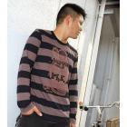 【MOON EYES】RAT FINK RF 老鼠芬克 粗款條紋 老鼠大圖長袖上衣 紅色| Webike摩托百貨