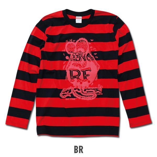 【MOON EYES】RAT FINK RF 老鼠芬克 粗款條紋 老鼠大圖長袖上衣 棕色  Webike摩托百貨
