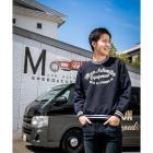 【MOON EYES】MOON Automotive Sweat 長袖上衣 大學T 藍色  Webike摩托百貨