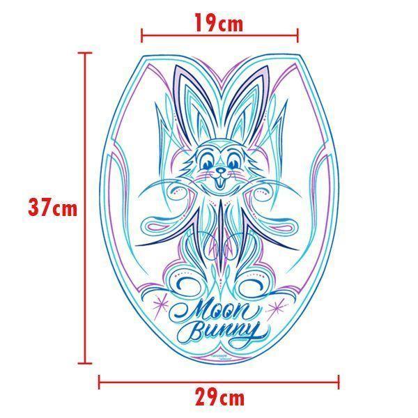【MOON EYES】MOONEYES pinstripe 拉線 月亮兔寶寶 馬桶蓋貼紙| Webike摩托百貨