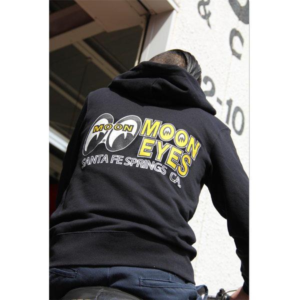 【MOON EYES】MOONEYES hape Logo Light Zip Parka 連帽外套| Webike摩托百貨