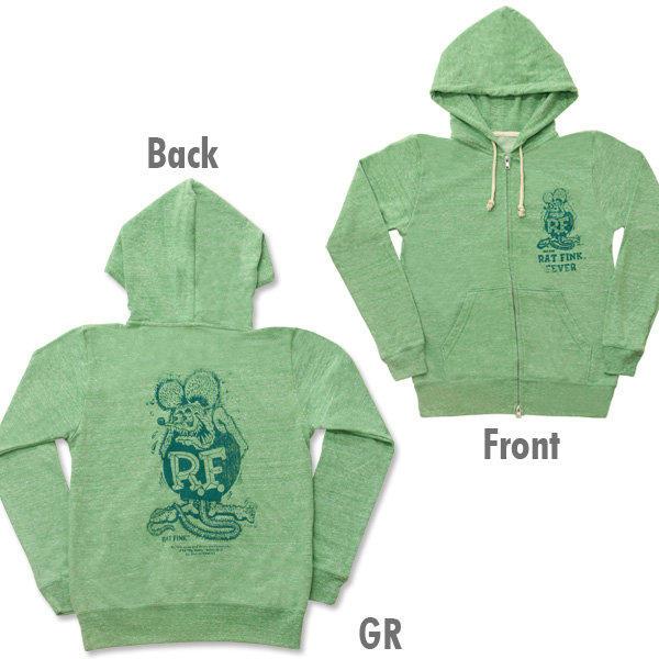 【MOON EYES】RAT FINK老鼠芬克連帽外套 灰色| Webike摩托百貨