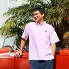 【MOON EYES】MOONEYES Pullover Short Sleeve 電繡小LOGO 套衫 短袖襯衫 藍色  Webike摩托百貨