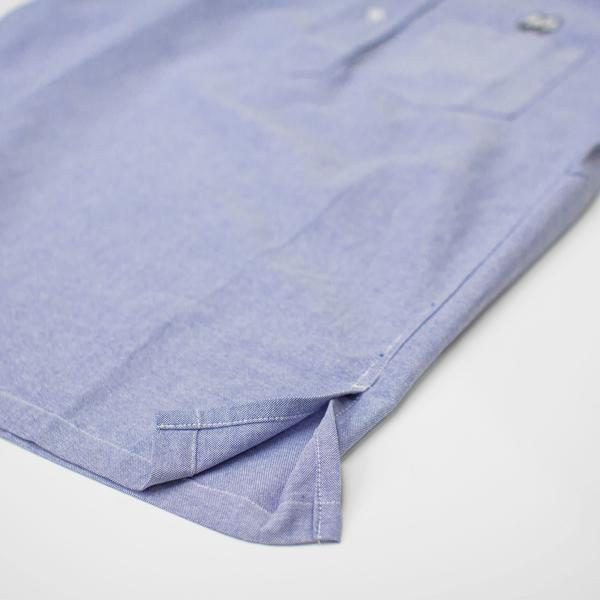 【MOON EYES】MOONEYES Classic 經典牛津套衫短袖襯衫 藍色| Webike摩托百貨