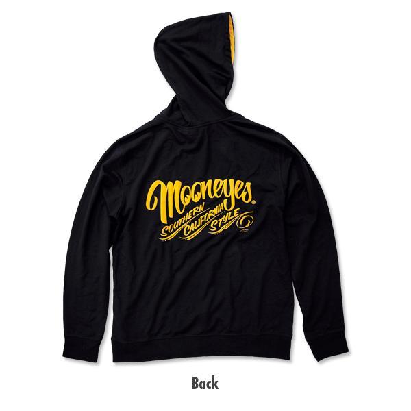 【MOON EYES】MOONEYES 南加州風格 黑黃配色 連帽長袖上衣 帽T| Webike摩托百貨