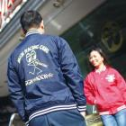 【MOON EYES】MOONEYES Cam Nylon Stadium Jacket 棒球外套 紅色| Webike摩托百貨