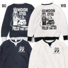 【MOON EYES】MOONEYES X Felix 菲力貓 大學T 長袖上衣 黑色  Webike摩托百貨