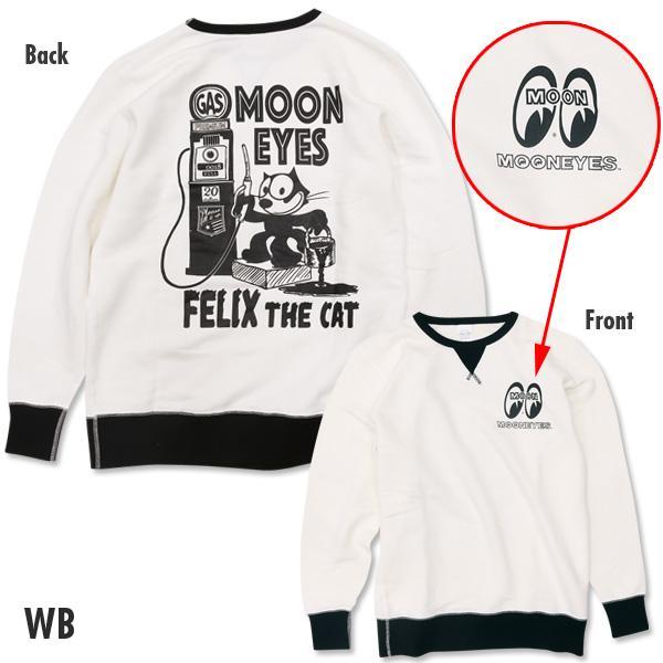 【MOON EYES】MOONEYES X Felix 菲力貓 大學T 長袖上衣 白色  Webike摩托百貨