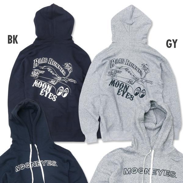 【MOON EYES】MOONEYES x Road Runner 嗶嗶鳥 BB鳥 帽T 連帽T桖 灰色  Webike摩托百貨
