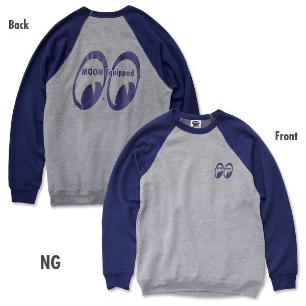 【MOON EYES】MOONEYES MOON Equipped 拼接長袖上衣 藍色| Webike摩托百貨