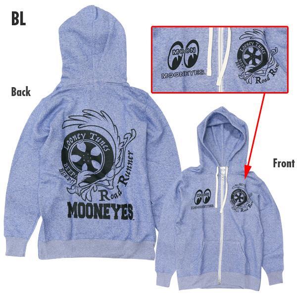 【MOON EYES】MOONEYES x Road Runner 嗶嗶鳥 連帽外套 藍色| Webike摩托百貨