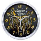 【MOON EYES】MOONEYES Pinstripe Almi Wall Clock 鋁邊外框 經典牆壁掛鐘| Webike摩托百貨