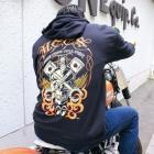 【MOON EYES】MOON CUSTOM CYCLE SHOP Zip Parka 連帽外套  Webike摩托百貨