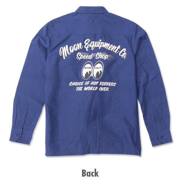 【MOON EYES】MOONEYES Choice of Hot Rodders 工作牛仔襯衫  Webike摩托百貨