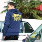 【MOON EYES】MOONEYES Boa Zip Parka 南加州風格 連帽刷毛外套 紫色  Webike摩托百貨
