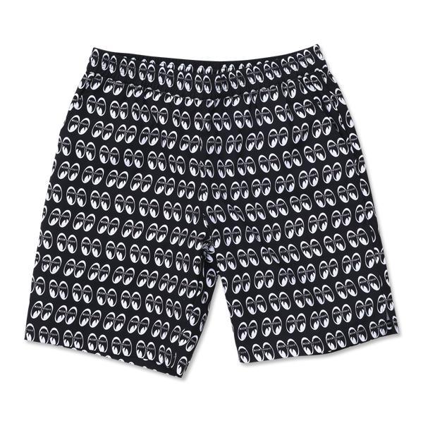 【MOON EYES】MOON Equipped Short Pants MOONEYES 滿版經典LOGO 鬆緊短褲  Webike摩托百貨
