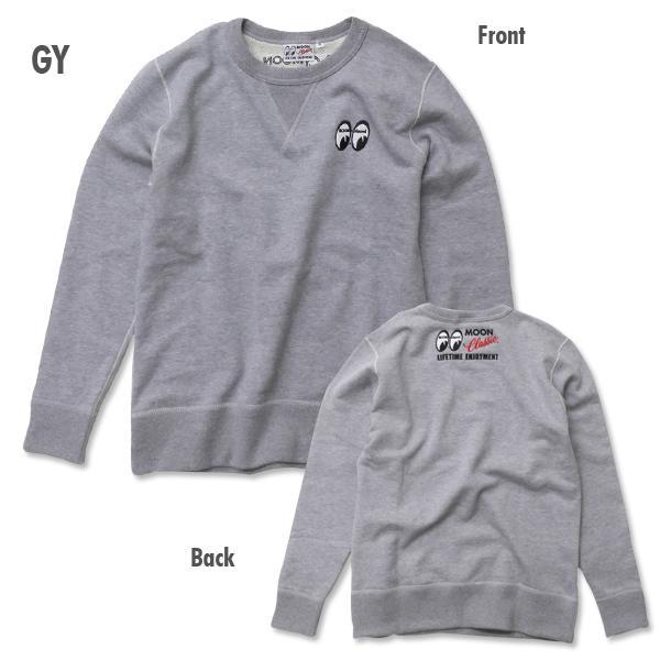 【MOON EYES】MOON Classic Sweatshirt MOONEYES 大學T 淺灰色  Webike摩托百貨