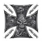 【LETHAL THREAT】Skull Iron Cross 貼紙