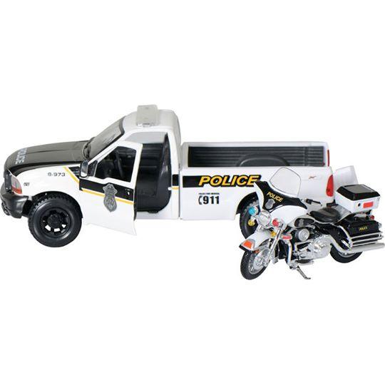 【Maisto】【Maisto Harley Davidson Model Police Pickup Electra Glide】裝飾模型| Webike摩托百貨