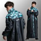 【fairrain】迷彩瘋時尚前開式加長型雨衣 (瘋迷綠)| Webike摩托百貨