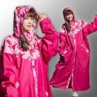 【fairrain】迷彩瘋時尚前開式加長型雨衣 (瘋迷粉)| Webike摩托百貨
