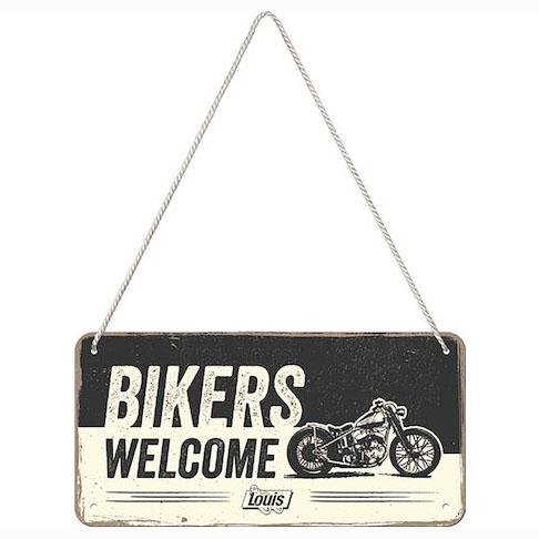 "【Louis】【Louis Hanging Sign ""Bikers Welcome""】金屬牌| Webike摩托百貨"