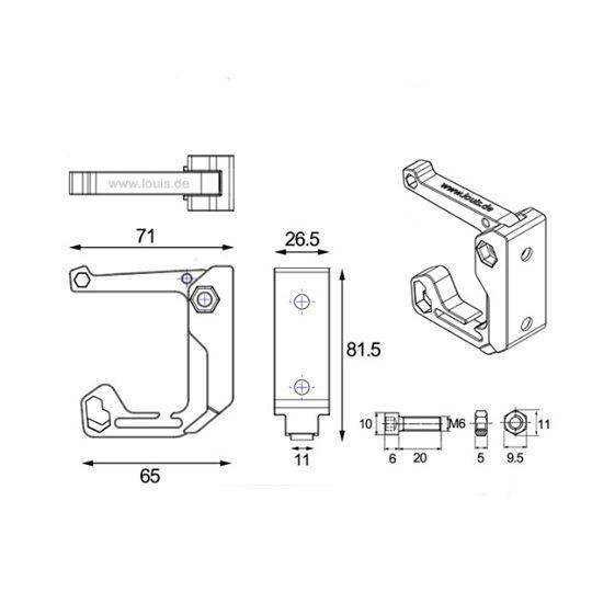 【Louis】【Louis Multipurpose hook 】摩托車裝備萬用掛鉤| Webike摩托百貨