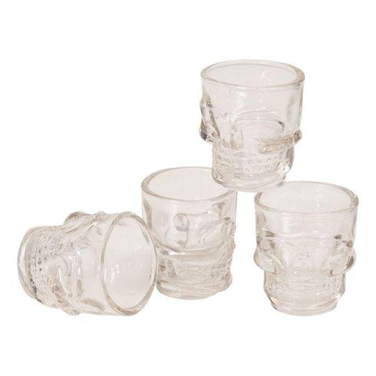 【Louis】【Louis Shooter Glasses *Skull* Set of 4】造型啤酒杯(4件裝)  Webike摩托百貨